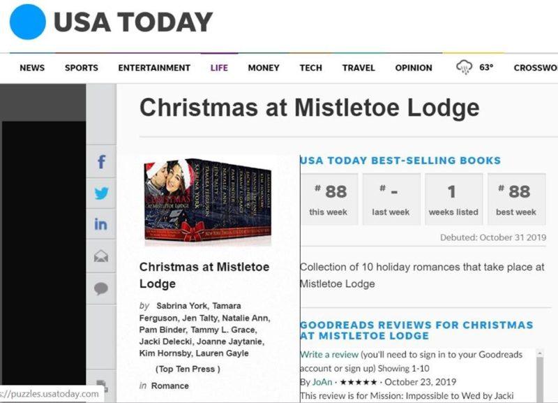 USA TODAY LIST FOR Christmas at Mistletoe Lodge_Christmas Chemistry